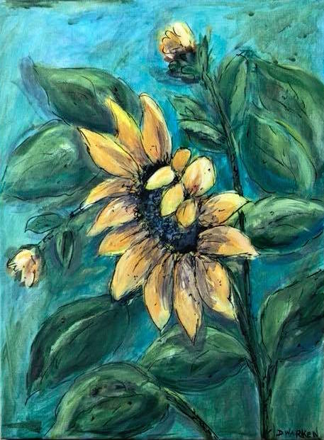 Deborah-Warken-Sunflower-Artwork